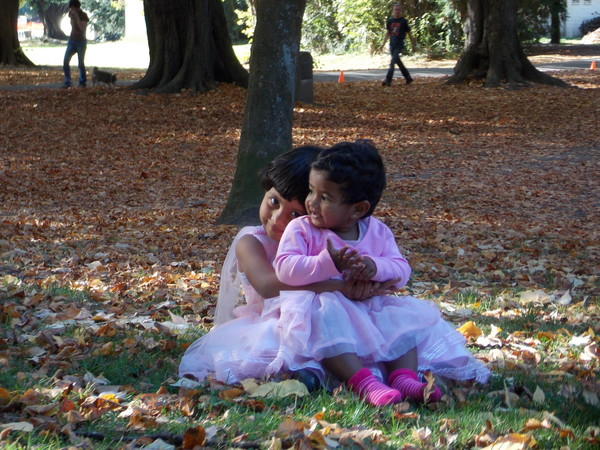 Enjoying Autumn in Hagley Park