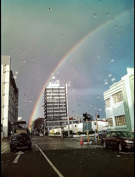 Former Christchurch Police Station & Rainbow.