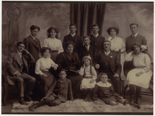 John and Hannah Mosley, and family