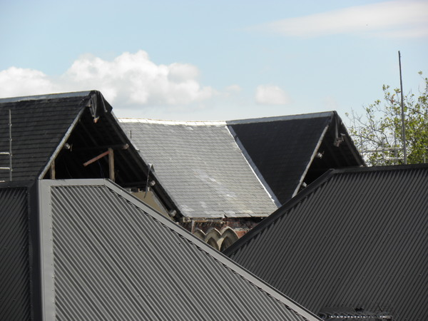 Arts Centre roof damage