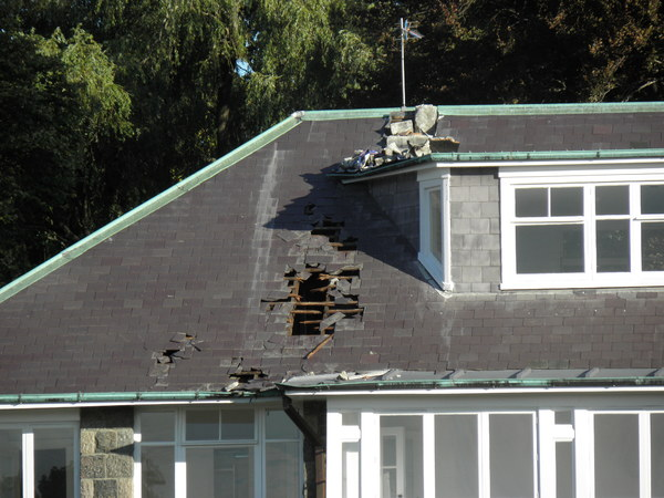 House damage to a Merivale property