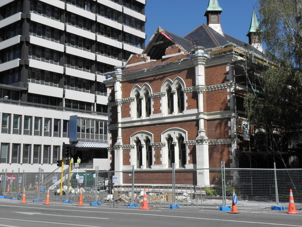 Damaged former Canterbury Public Library Building,