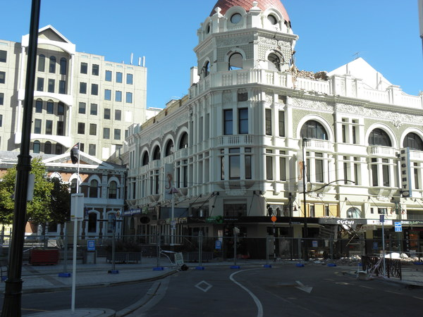 Regent Theatre building in Cathedral Square.