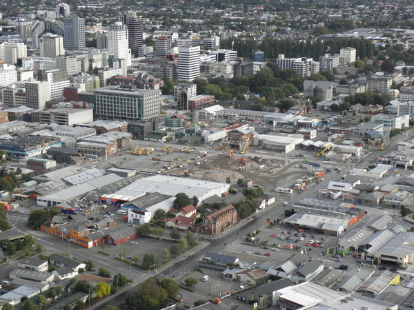 Aerial photo of the CBD