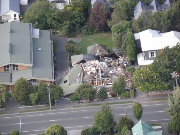 Collapsed house, 358 Gloucester Street.