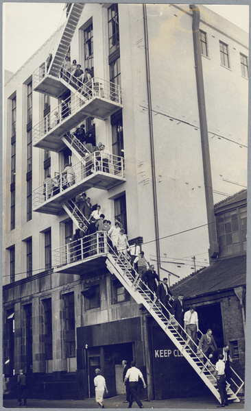 New fire escape at State Insurance office