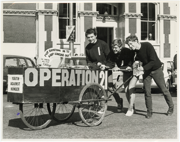 Operation 21 coffin in Cathedral Square
