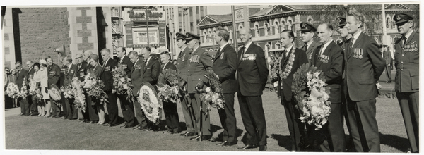 Military personnel at commemoration