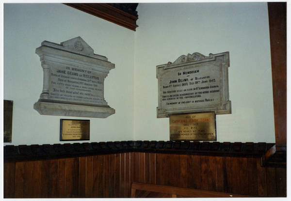 Dean's family memorials, St Andrews  Church, Merivale