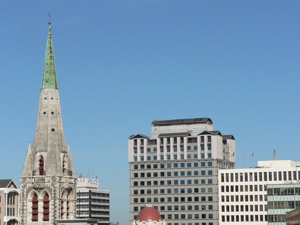 Cathedral spire and Clarendon Tower