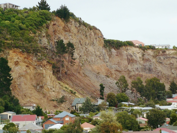 Collapsed cliff at Redcliffs