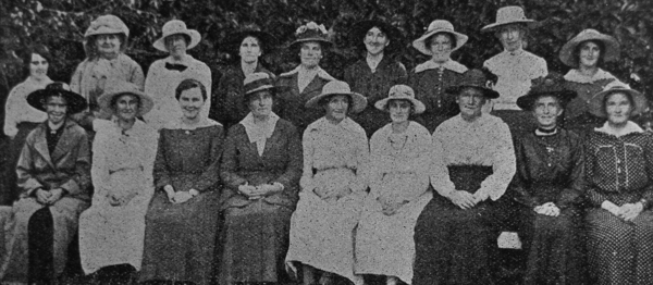 Members of the Halkett Red Cross branch