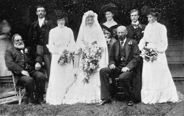 Wedding of Dr Gosset to Mary Lochhead, Leeston