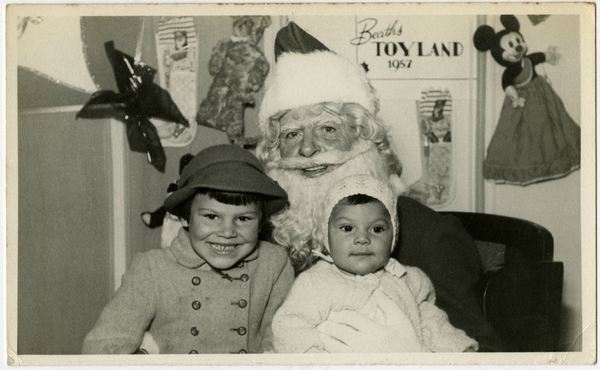 Father Christmas at Beaths, 1957
