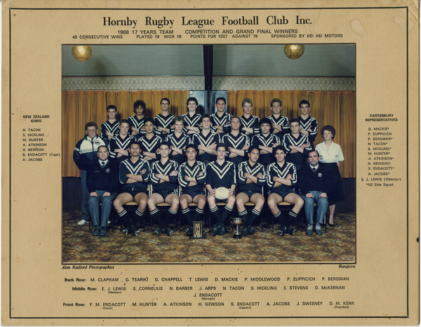 Hornby Rugby League Football Club, 1988