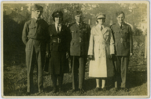 Family during Second World War in Christchurch