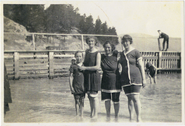 Bathing beauties at Corsair Bay