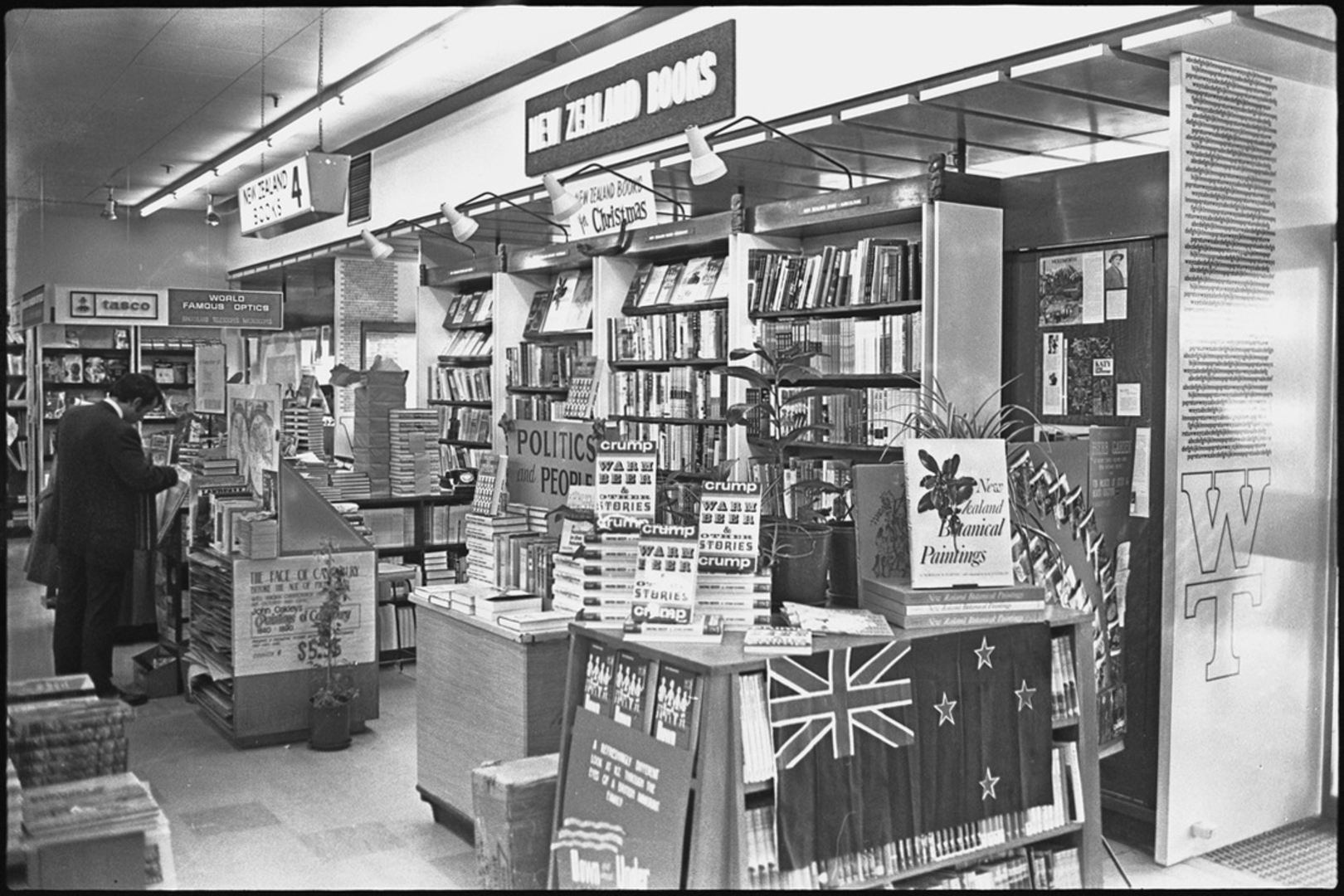 Whitcomb and Tombs book display, 1969