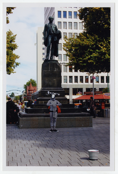 John Robert Godley statue, Cathedral Square