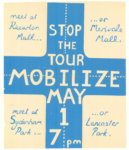 Fight Apartheid Stop the Tour Mobilise May 1st