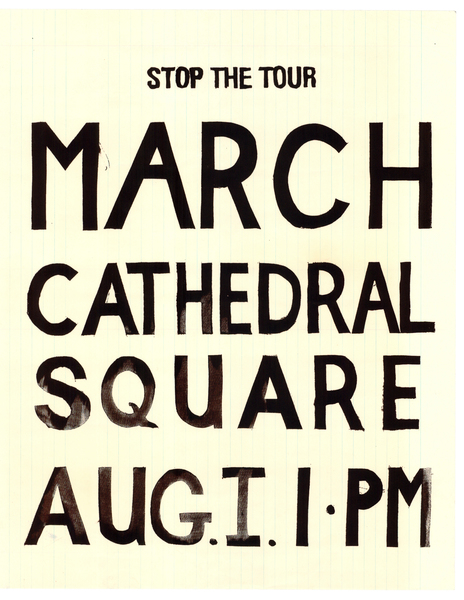 Stop the Tour March Cathedral Square