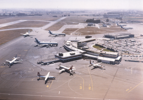 Aerial view of Christchurch Airport