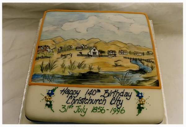 Happy 140th Birthday Christchurch cake