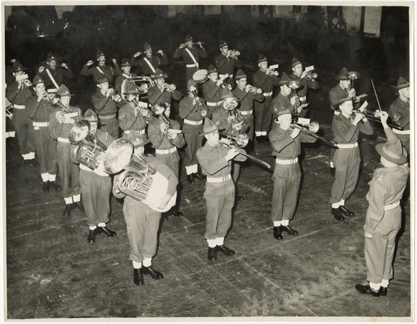 Conducting the 1st Canterbury Regimental Band