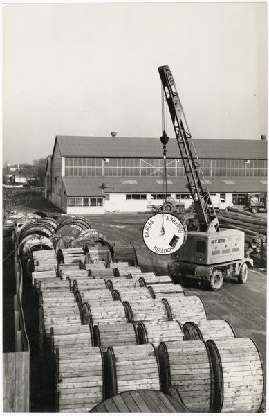 Cable drums at Packe Street depot
