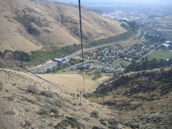 View of Heathcote Valley from the Gondola