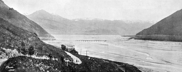 The railway bridge over the Waimakariri river
