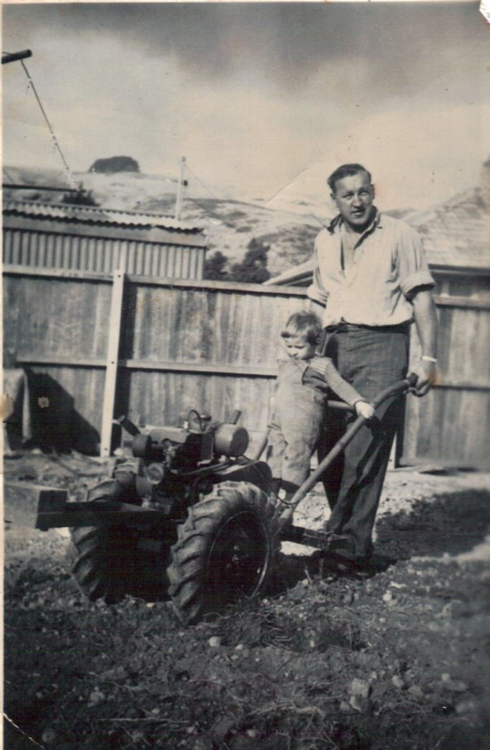 Gardening with Dad in Woolston, 1958