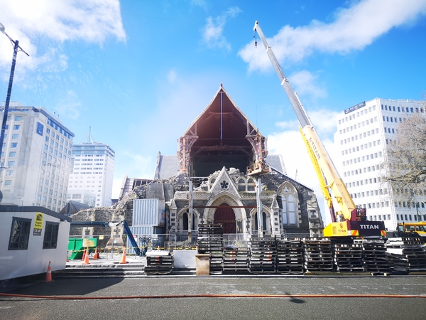 Reinstatement works on the ChristChurch Cathedral