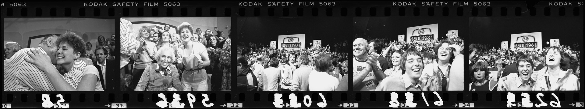 Negative strip from the Christchurch Star Archive showing 1981 Telethon