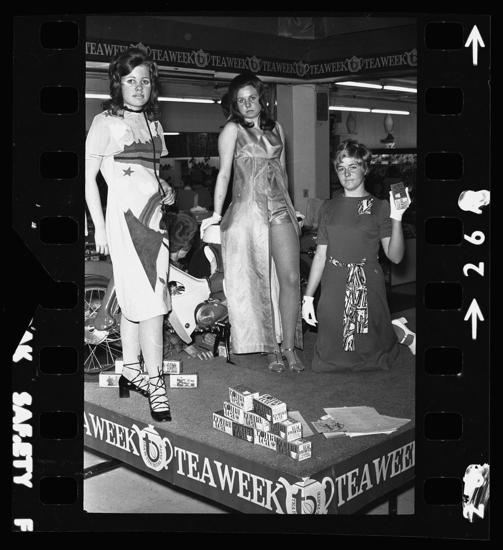 Negative showing 1971 Tea Dress competition