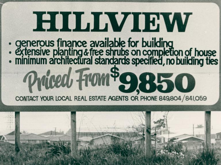 Image of Hillview subdivision sign