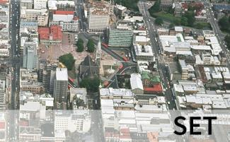 Aerial view of the Square