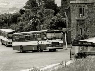 Image of buses at the Sign of the Takehe