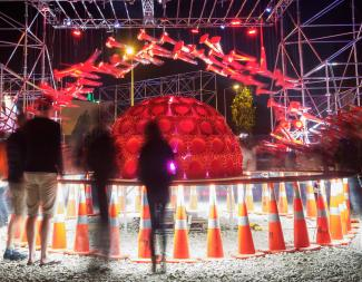 Image of cone installation at FESTA 2014